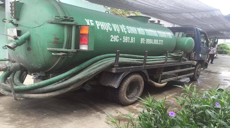 Bảng báo giá xe hút bể phốt, xe hút bùn, xe hút chất thải 3 khối