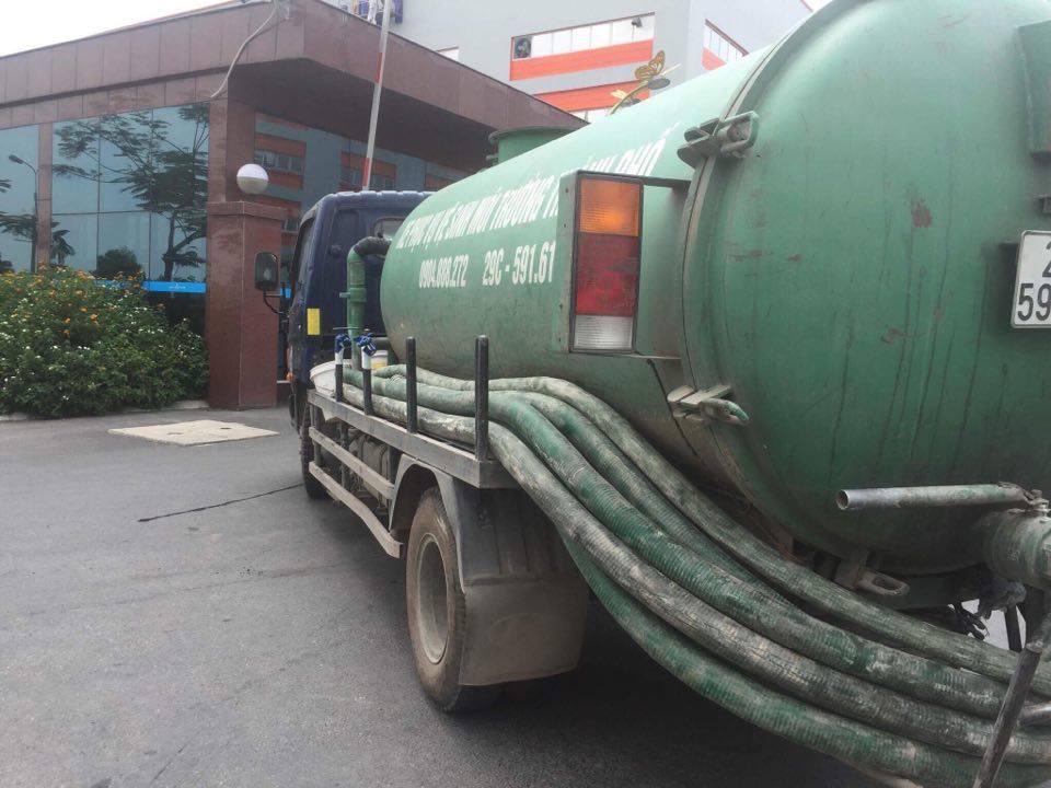 Bảng báo giá xe hút bể phốt, xe hút bùn, xe hút chất thải 5 khối