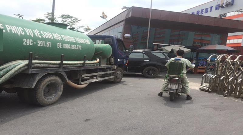 Dịch vụ hút bể phốt tại Giáp Bát