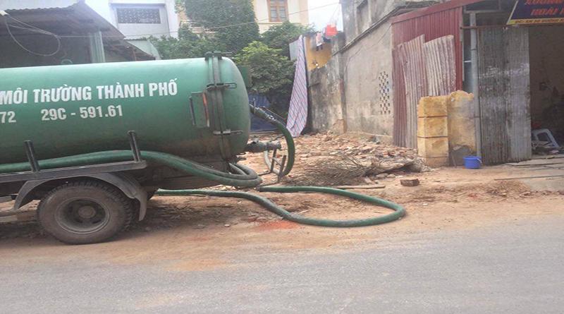 Dịch vụ hút bể phốt tại Vĩnh yên