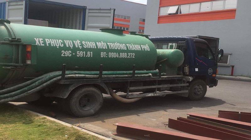 Dịch vụ hút bể phốt tại phường Dương Nội