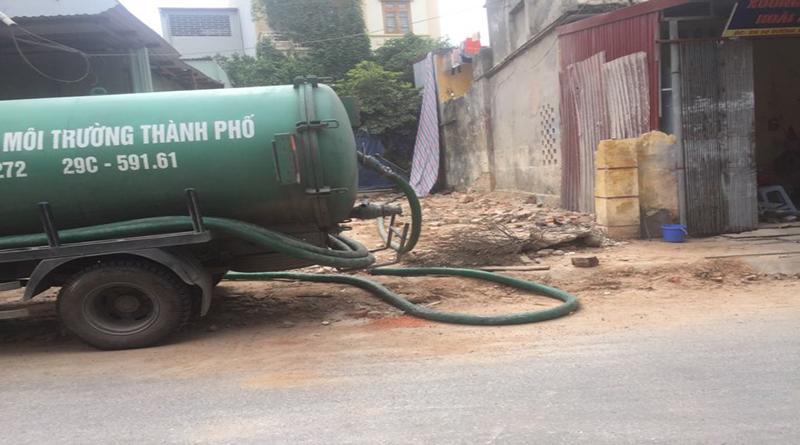 Dịch vụ hút bể phốt tại phường Mộ Lao