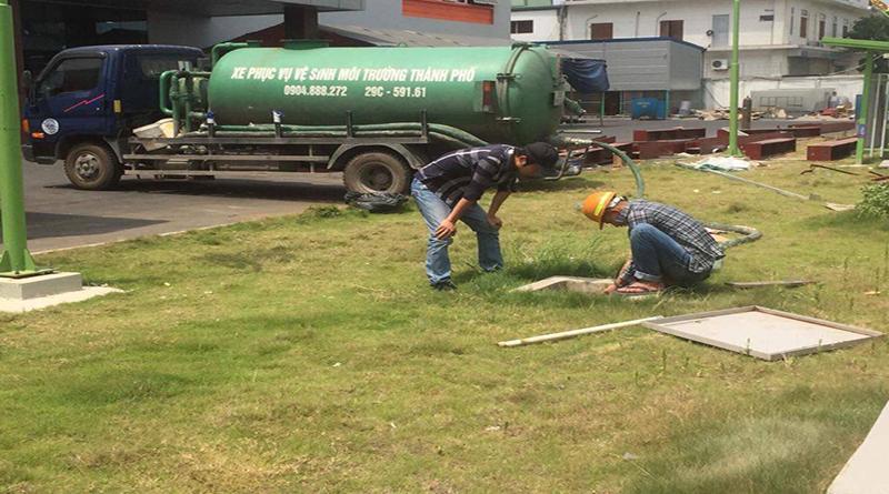Dịch vụ hút bể phốt tại phố Trần Đăng Ninh