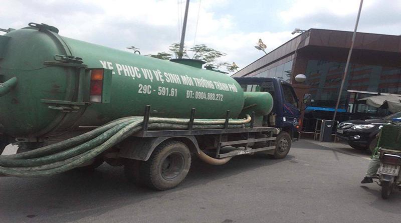 Dịch vụ hút bể phốt tại quận Hoàng Mai