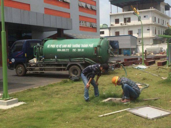 Dịch vụ thông hút bể phốt tại bán đảo Linh Đàm