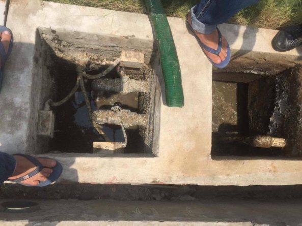 Hút bể phốt tại Kim Đồng