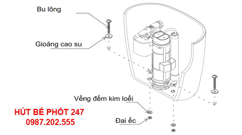 Hướng dẫn lắp đặt két chứa nước bồn cầu inox