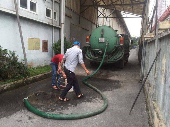Xe hút bể phốt, hố ga, bùn thải tại Tuyên Quang