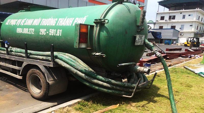 Báo giá xe hút bể phốt tại Ba Vì