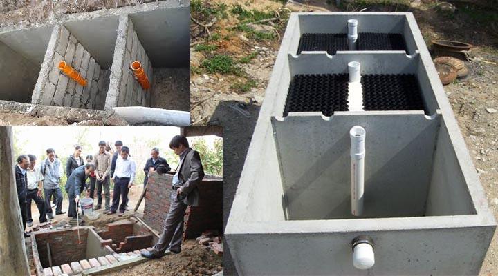 Bể tự hoại 3 ngăn bằng bê tông