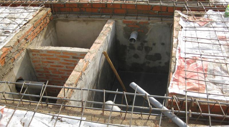 Bể tự hoại 3 ngăn bằng gạch