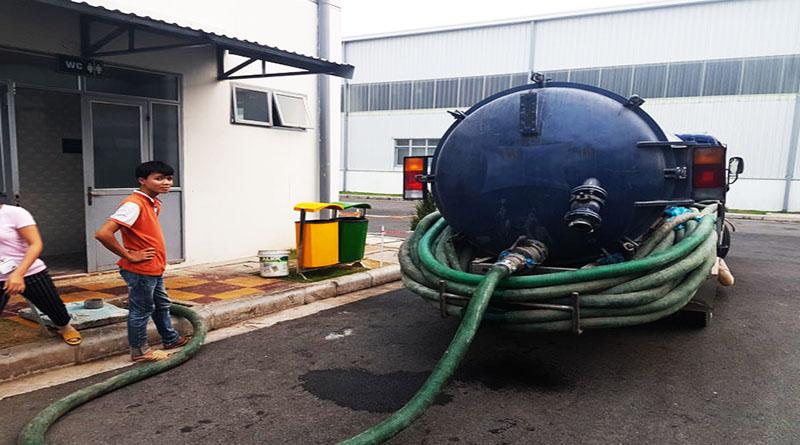 Dịch vụ hút bể phốt tại khu công nghiệp