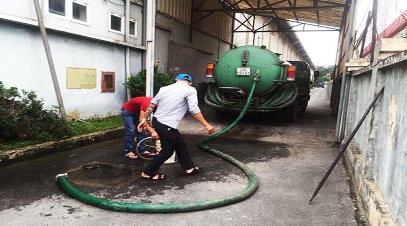 Dịch vụ hút bể phốt tại khu công nghiệp tỉnh thái nguyên